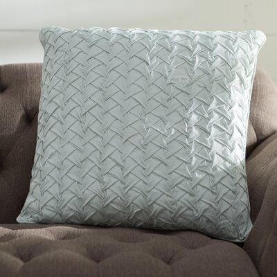 Lilas Cotton Voile Throw Pillow Color: Aqua