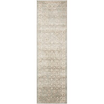 Angelique Gray and Ivory Area Rug Rug Size: Runner 22 x 76