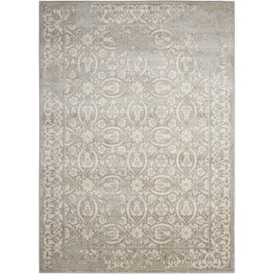 Angelique Gray and Ivory Area Rug Rug Size: Rectangle 9' x 12'