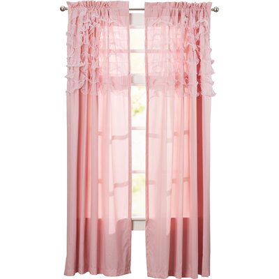 Henrietta Ruffle Sheer Rod Pocket Curtain Panel