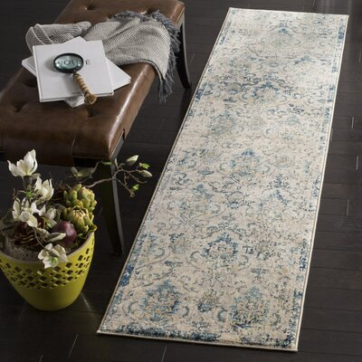Montelimar Beige/Navy Area Rug Rug Size: Rectangle 9 X 12
