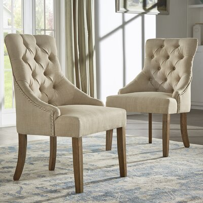 Agnes Side Chair Upholstery: Beige