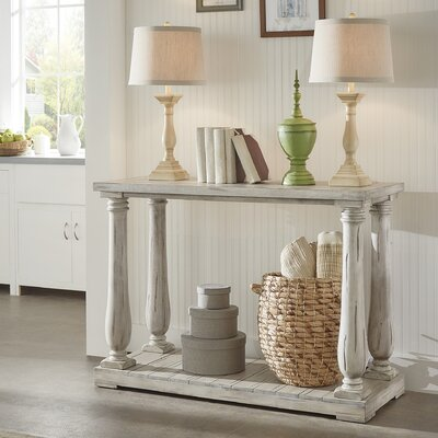 Airelle Console Table Color: Antique White