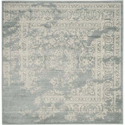 Arbus Slate/Ivory Area Rug Rug Size: Square 6
