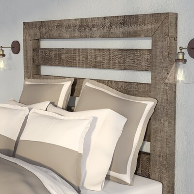 Castagnier Slat Headboard Size: King, Finish: Weathered Grey