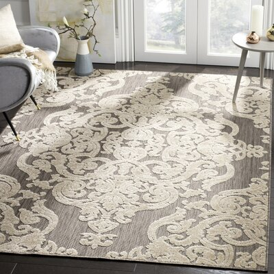 Lievin Taupe Indoor/Outdoor Area Rug Rug Size: 53 x 77