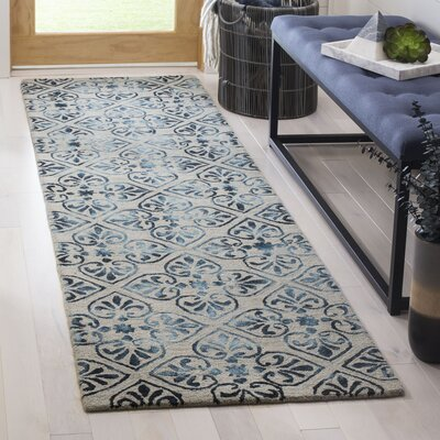 Edmeston Hand-Tufted Gray/Charcoal Area Rug Rug Size: Runner 23 x 8