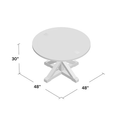 Peralta Round Rustic Dining Table Size: 30 H x 48 W x 48 D
