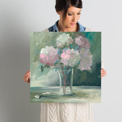 Pink Peonies Painting Print Size: 18