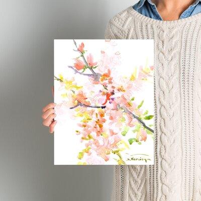 Cherry Blossom Sakura Painting Size: 14
