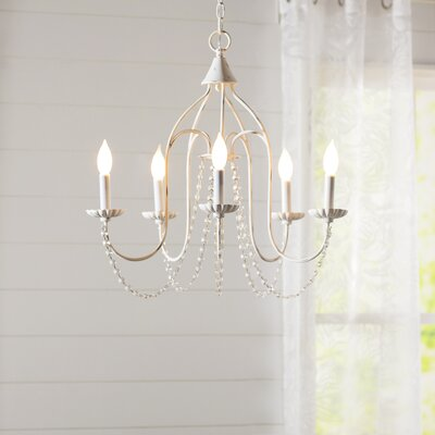 Florentina 5-Light Candle-Style Chandelier Finish: Antique White