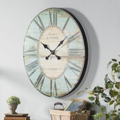 Oversized 29'' Oval Wall Clock
