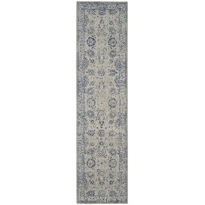 Saint-Mande Silver/Silver Area Rug Rug Size: Runner 22 x 12