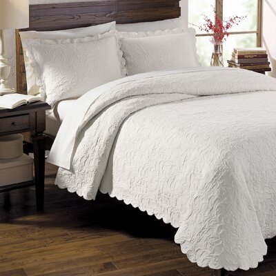 Andlau Coverlet Size: King, Color: White
