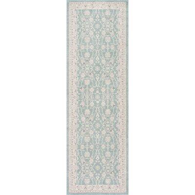 Rochelle Blue/Beige Area Rug Rug Size: Runner 26 x 8
