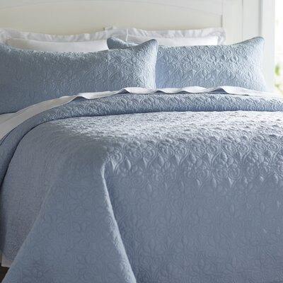 Emy Coverlet Set Color: Blue, Size: King