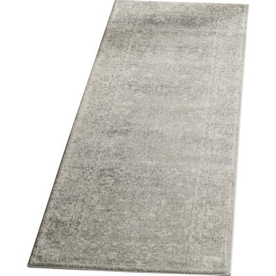 Montelimar Silver/Ivory Area Rug Rug Size: Runner 2'2