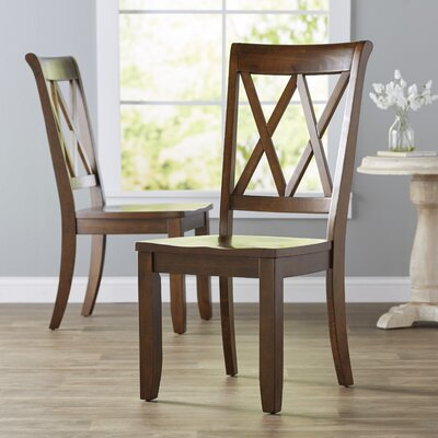 Saint-Gratien Dining Chair (Set of 2) Finish: Warm Sienna Brown