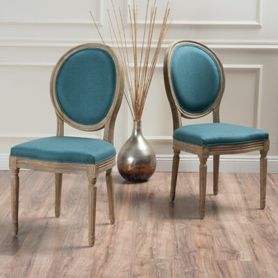 Bluffton Side Chair Upholstery: Dark Teal