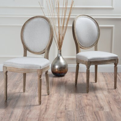 Bluffton Side Chair Upholstery: Gray Beige