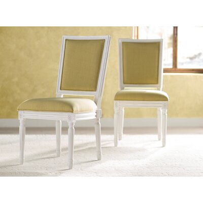 Guillemete Side Chair Finish: Spring Green / Cream