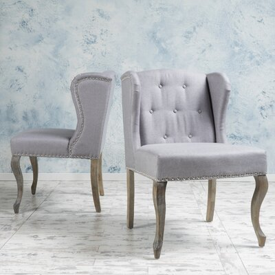 Soan Wing back Chair Upholstery: Light Gray