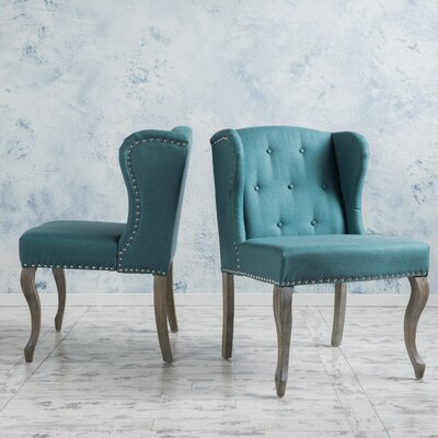 Soan Wing back Chair Upholstery: Dark Teal