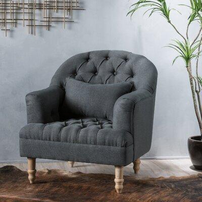 Palafox Tufted Armchair Upholstery: Dark Grey