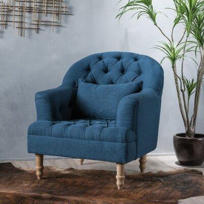 Palafox Tufted Armchair Upholstery: Dark Blue