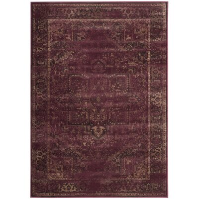 Meline Red Area Rug Rug Size: Rectangle 4 x 57