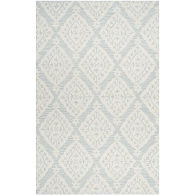 Peltz Hand-Tufted Blue/Gray Area Rug Rug Size: Rectangle 4 x 6