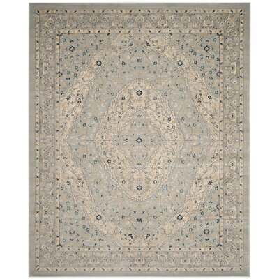 Montelimar Light Gray/Cream Area Rug Rug Size: Rectangle 8 x 10