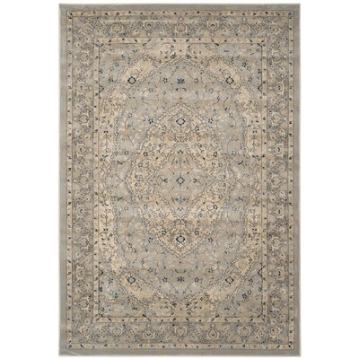 Montelimar Light Gray/Cream Area Rug Rug Size: Rectangle 51 x 76