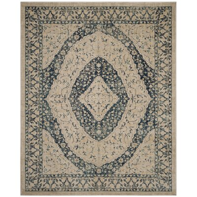 Montelimar Beige/Navy Area Rug Rug Size: Rectangle 8 x 10
