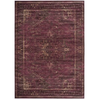Meline Red Area Rug Rug Size: Rectangle 8 x 112