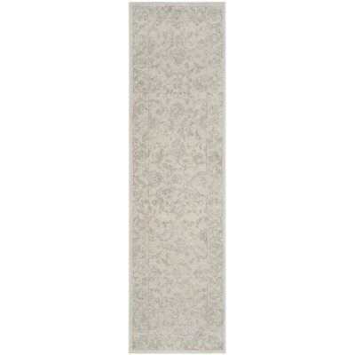 Akron Creek Cream/Light Gray Area Rug Rug Size: Runner 23 x 8