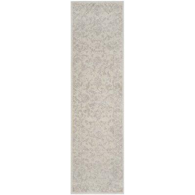 Akron Creek Cream/Light Gray Area Rug Rug Size: Runner 23 x 8