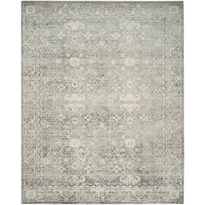 Montelimar Silver/Ivory Area Rug Rug Size: Rectangle 8 x 10