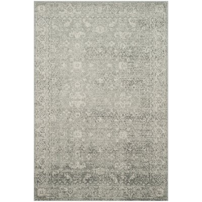 Montelimar Silver/Ivory Area Rug Rug Size: Rectangle 51 x 76