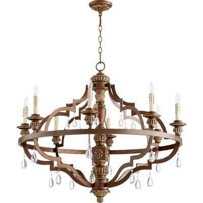 Jaune 8-Light Metal Candle-Style Chandelier Finish: Vintage Copper