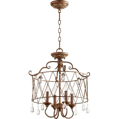 Jaune 4-Light Metal Candle-Style Chandelier Finish: Vintage Copper