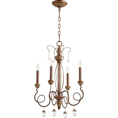 Jaune 4-Light Candle-Style Chandelier Finish: Vintage Copper