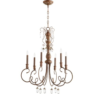 Jaune 6-Light Candle-Style Chandelier Finish: Vintage Copper