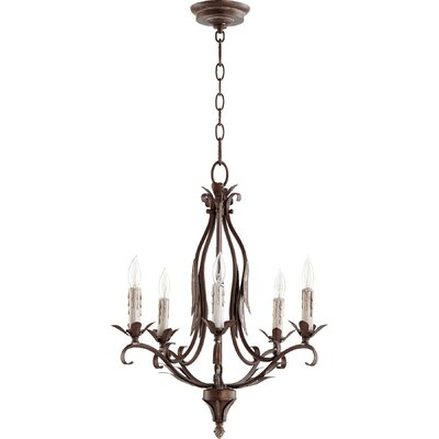Harnois 5-Light Candle-Style Chandelier Finish: Vintage Copper
