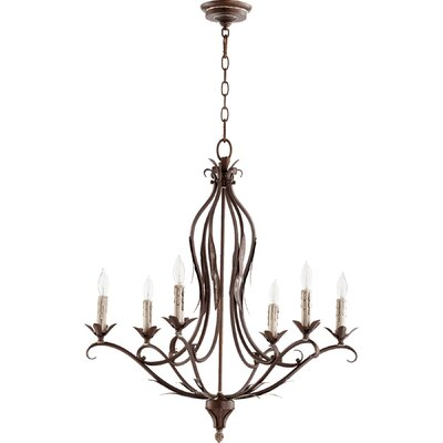 Harnois 6-Light Candle-Style Chandelier Finish: Vintage Copper