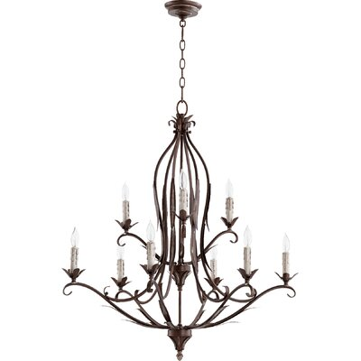 Harnois 9-Light Candle-Style Chandelier Finish: Vintage Copper