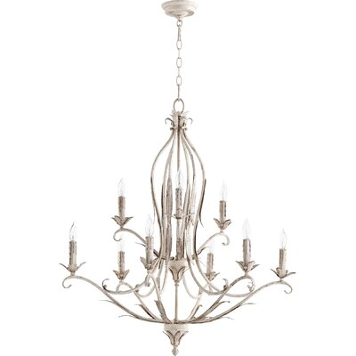 Harnois 9-Light Candle-Style Chandelier Finish: Persian White