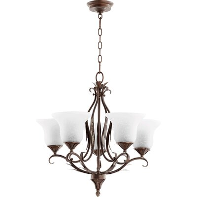 Harnois 5-Light Shaded Chandelier Finish: Vintage Copper