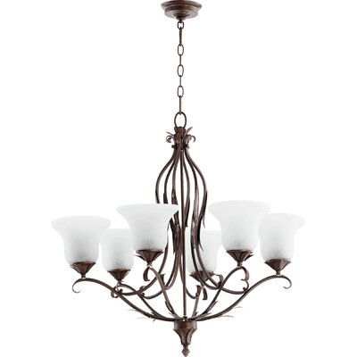 Harnois 6-Light Shaded Chandelier Finish: Vintage Copper