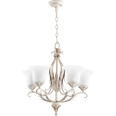 Harnois 5-Light Shaded Chandelier Finish: Persian White